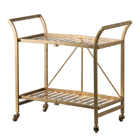 Image of Cleo Golden Serving Cart - Shelves