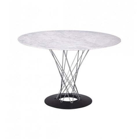 Cyclone Dining Table - White Marble Top - Reproduction - Dining Table