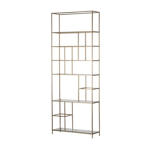 Event Contemporary Champagne Gold Etagere - Shelves