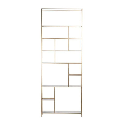Image of Event Contemporary Champagne Gold Etagere - Shelves