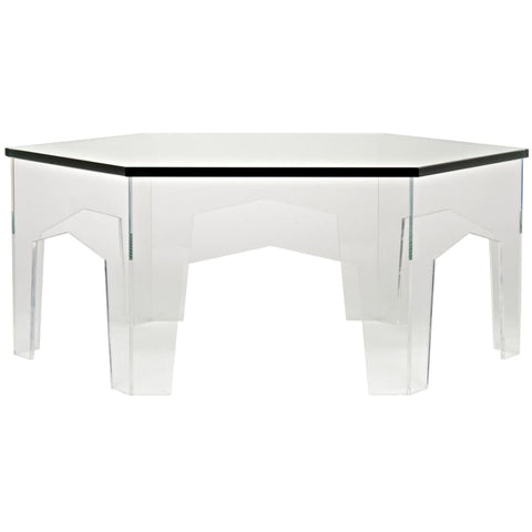 Image of Kame Acrylic Coffee Table GTAB1014 West Dwelling Furniture