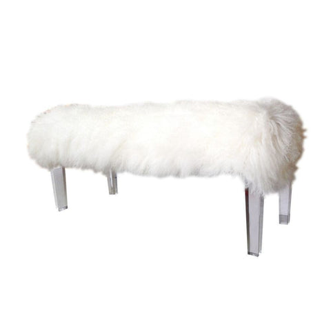 Mongolian Fur Bench - Benches