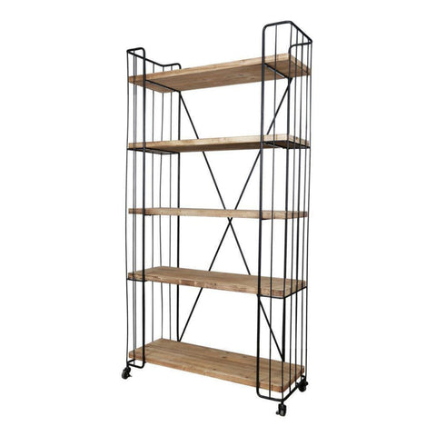 Image of Quimby Five-Tier Bookshelf - Shelves