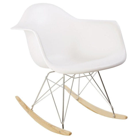Image of Rar Rocking Chair - Reproduction - White-Pp - Lounge Chairs