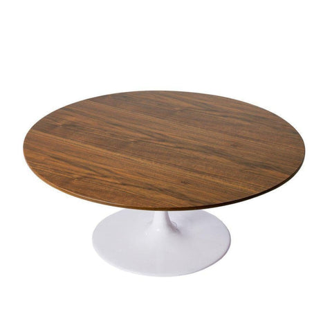 Tulip Coffee Table - Round - Walnut Top - Reproduction - Coffee Tables