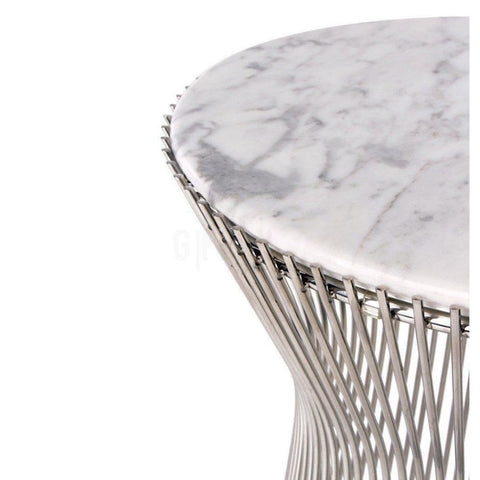 Warren Side Table W/ White Carrara Marble Top - Reproduction - Side Tables