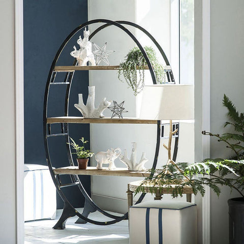 Image of Wilton Oval Bookcase - Shelves