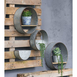 Zale Round Wall Planters, Set of Five