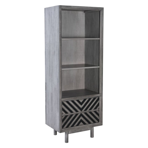 Image of Zuo Modern Raven Narrow Tall Shelf Old Gray 100972 West Dwelling Furniture