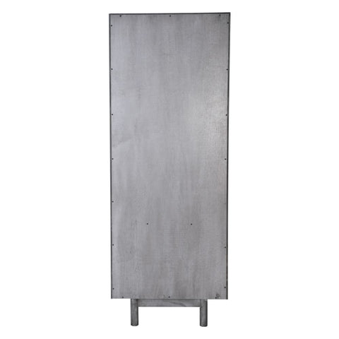 Zuo Modern Raven Narrow Tall Shelf Old Gray 100972 West Dwelling Furniture