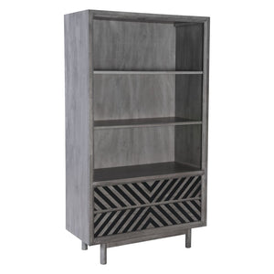 Zuo Modern Raven Wide Tall Shelf Old Gray 100973 West Dwelling Furniture