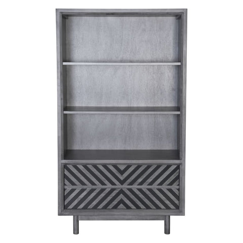 Image of Zuo Modern Raven Wide Tall Shelf Old Gray 100973 West Dwelling Furniture