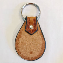 Limited Hand Stamped Leather Calico Keychain