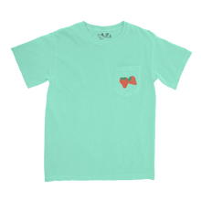 Mapache Strawberry Pocket Tee - Island Green