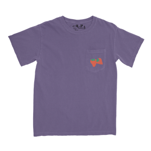 Mapache Strawberry Pocket Tee - Purple