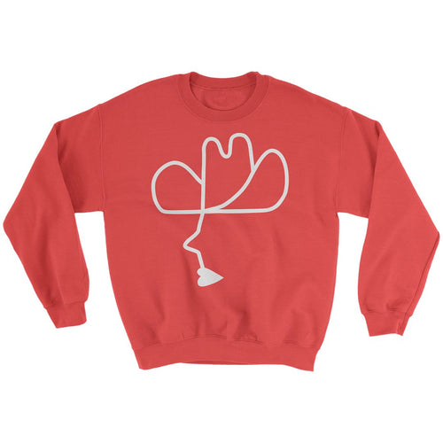 Calico Cowboy Sweater Red/White