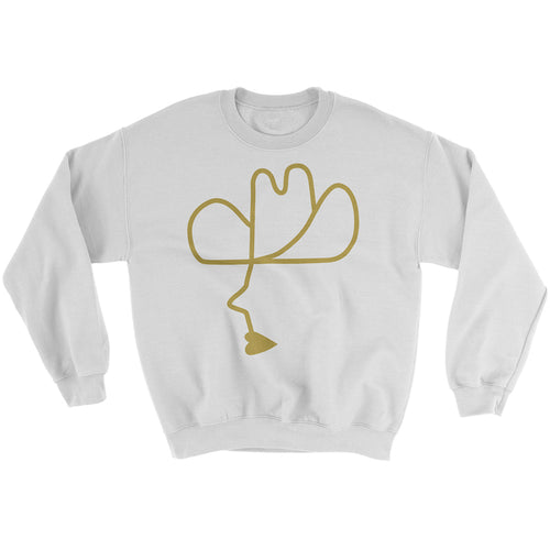 Calico Cowboy Sweater White/Gold