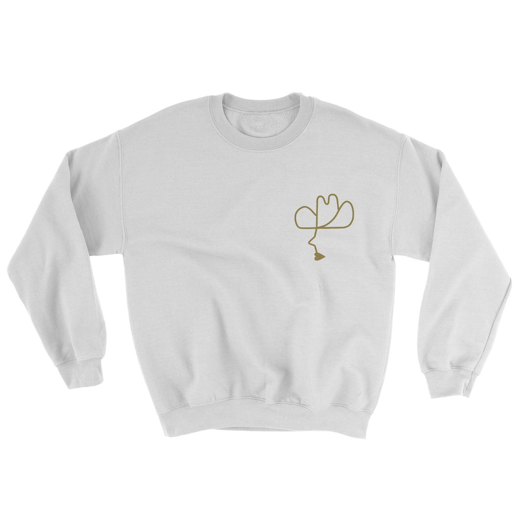 Pocket Calico Cowboy Sweater White/Gold