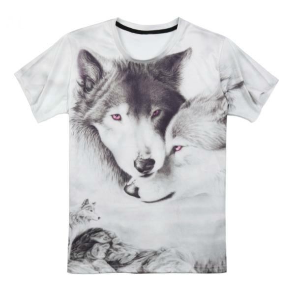 T shirt loup femme affection