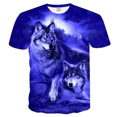 T-shirt loup femme illusion bleu - Wolf Dream
