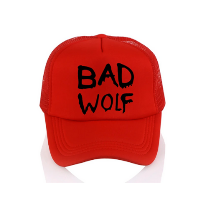 Casquette loup rouge bad wolf