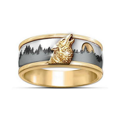 Bague loup or hurlement