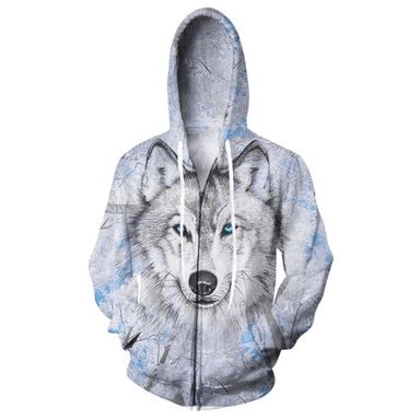 Sweat loup zippé