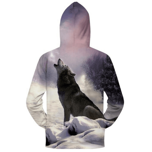 sweat zippé loup