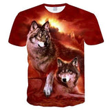 T-shirt loup femme illusion rouge - Wolf Dream