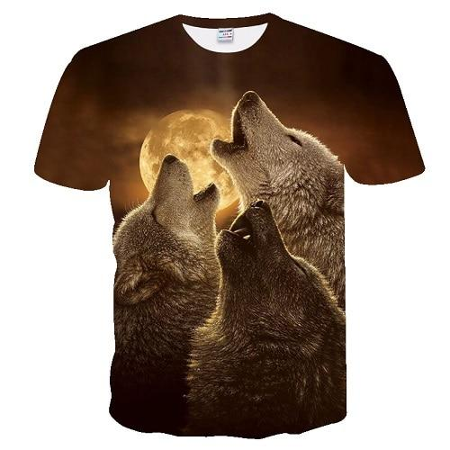 T-shirt loup lune hurlement