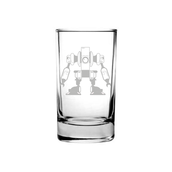 Kids Robot Etched Juice Glass