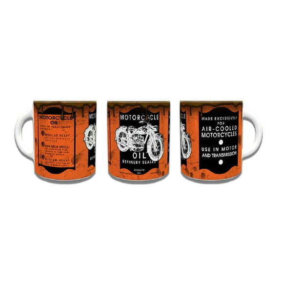 Motorcycle Oil Can Coffee Mug