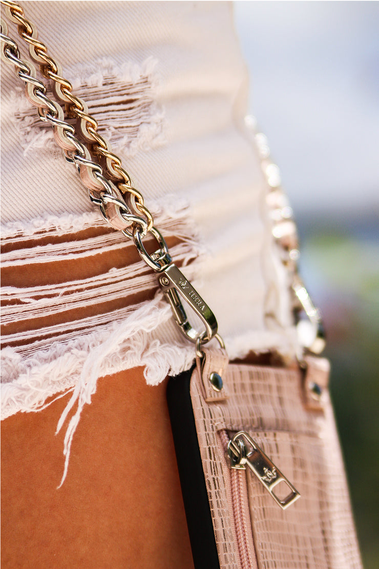 Carly | Double Metal chain strap | Metal chain strap  case | Hera cases
