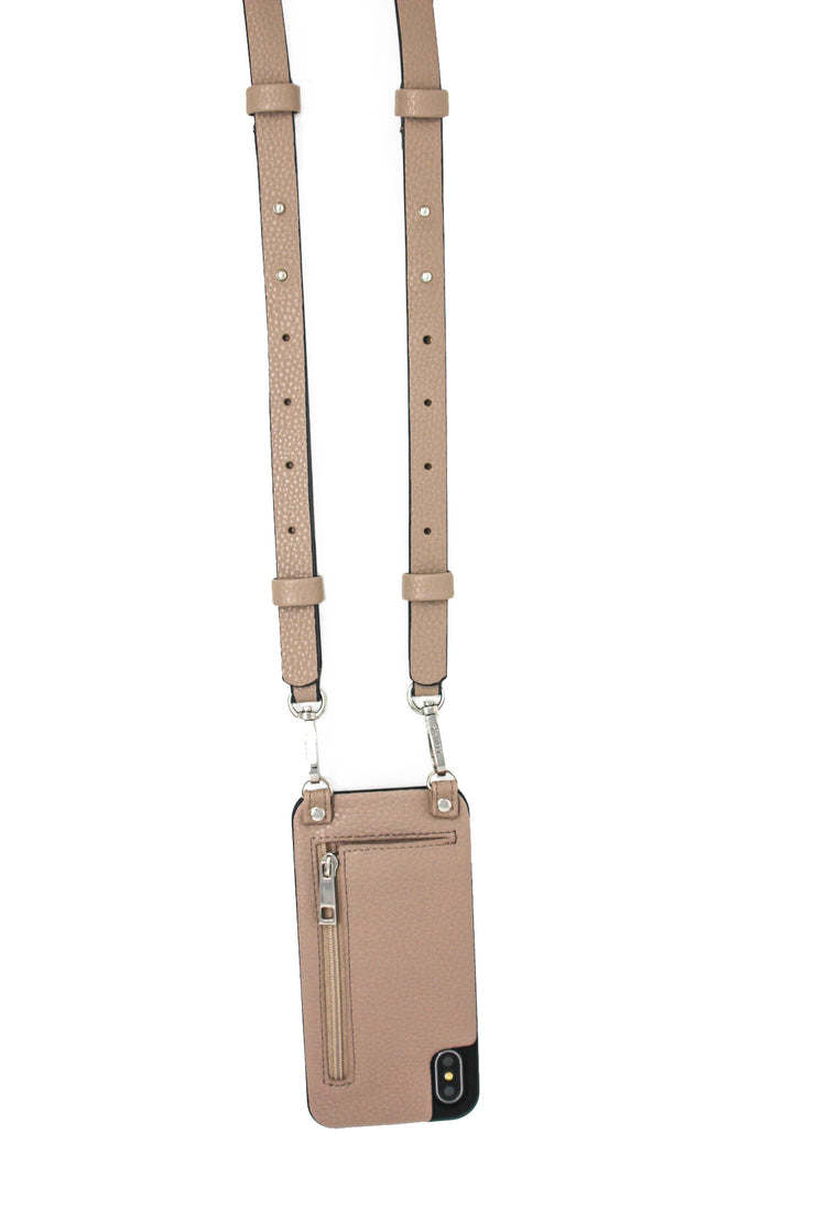 Jolene | iPhone XR case | Taupe vegan leather strap | Hera cases