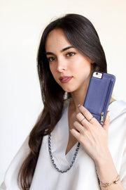 Blue | Celeste | iPhone 6 / 6s / 7 / 8 cases | Blue Vegan Leather strap | Hera cases