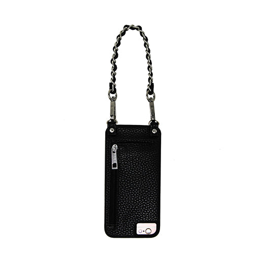 Coco |   Wristlet | Metal chain strap | black vegan leather | Hera cases