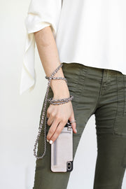 Cathy | Metal chain strap | Metallic bronze vegan leather | Hera cases