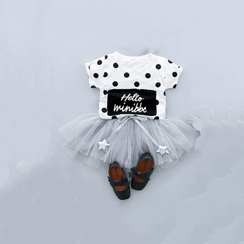 Polka Dots Top & Tutu Skirt (2-Piece Set)