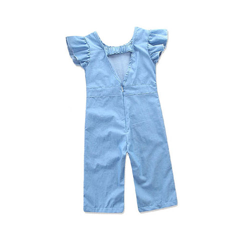 Frilled Sleeves Jumpsuit