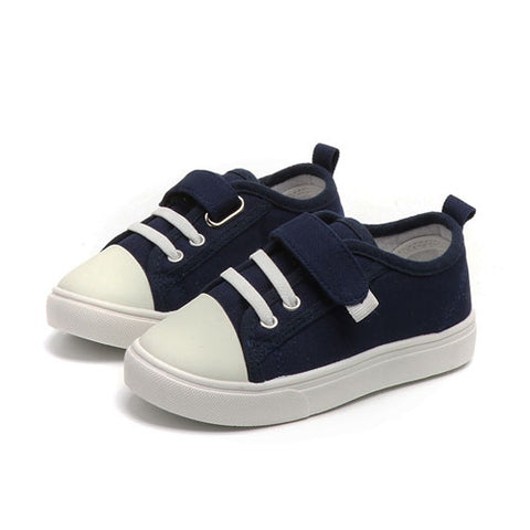 Fabric Plimsolls - Dark Blue