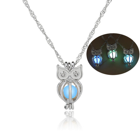 Glow In The Dark Owl Animal Pendant