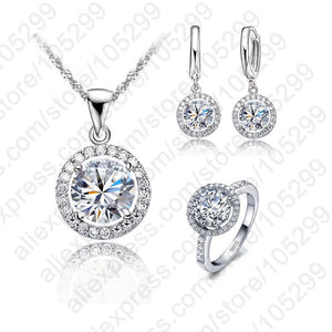 925 Sterling Silver Wedding Jewelry Set