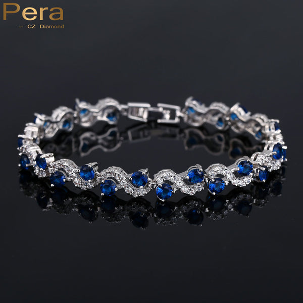 925 Sterling Silver 5 Color Options Royal Blue Stone Bracelet