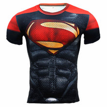 Camiseta masculina - 3D Marvel Superhero Punisher Capitão América, Superman