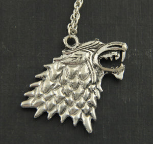 Colar Stark Wolf - Game of Thrones -
