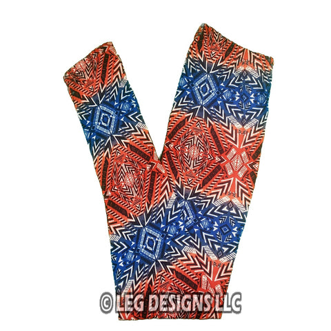 GEOMETRIC PRINT HIGH WAIST LEGGINGS