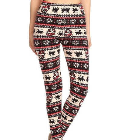 CHRISTMAS FAIR ISLE PRINT REINDEER HIGH WAIST LEGGING