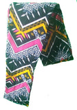 COLORFUL CHEVRON PRINT BUTTERY SOFT BRUSHED ANKLE LEGGINGS ONE SIZE (OS)
