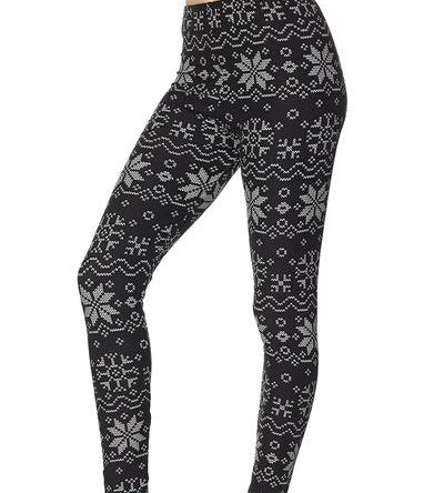 Butter Soft Winter Snowflakes Christmas Season Leggings