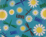 """DRAGONFLIES & DAISIES"" SUMMER INSPIRED CUSTOM CAPRI LEGGINGS"